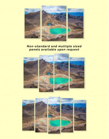 Mountain Emerald Lakes Tongariro Landscape Canvas Wall Art - image 3