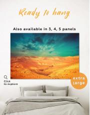 Desert with Blue Sky Landscape Canvas Wall Art