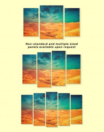 Desert with Blue Sky Landscape Canvas Wall Art - image 1