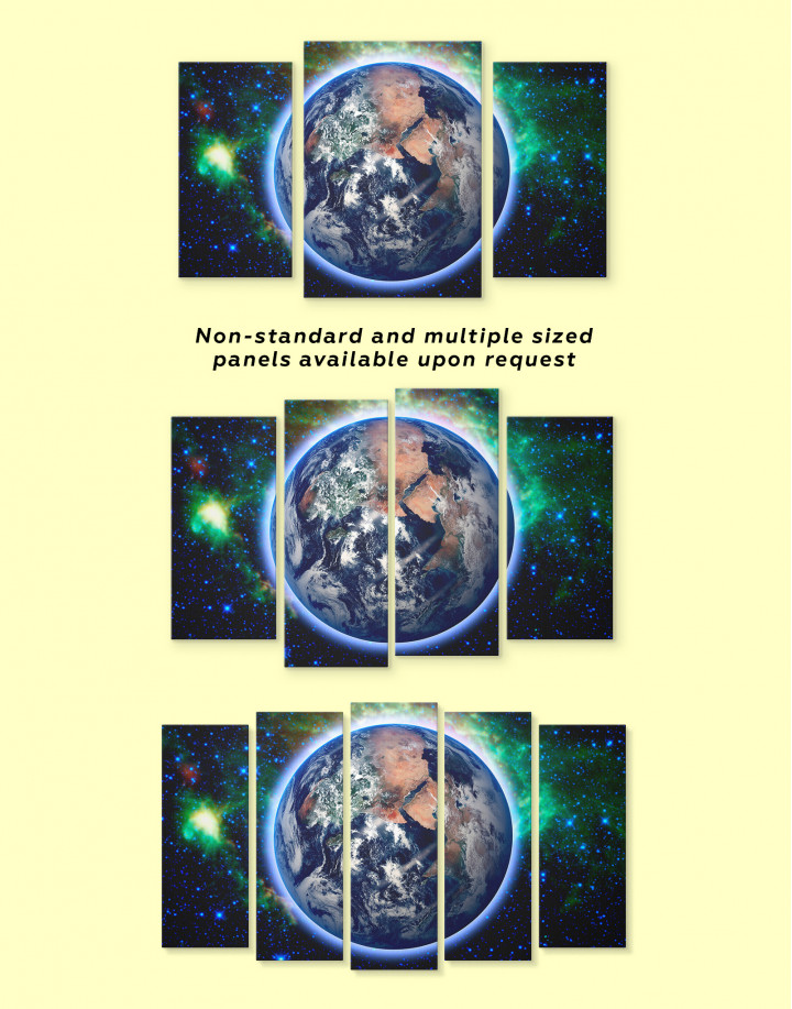Earth From Space Canvas Wall Art - Image 1