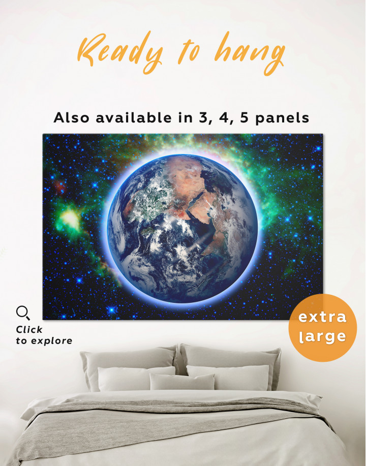 Earth From Space Canvas Wall Art