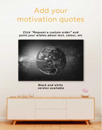 Earth in the Space Canvas Wall Art - image 1