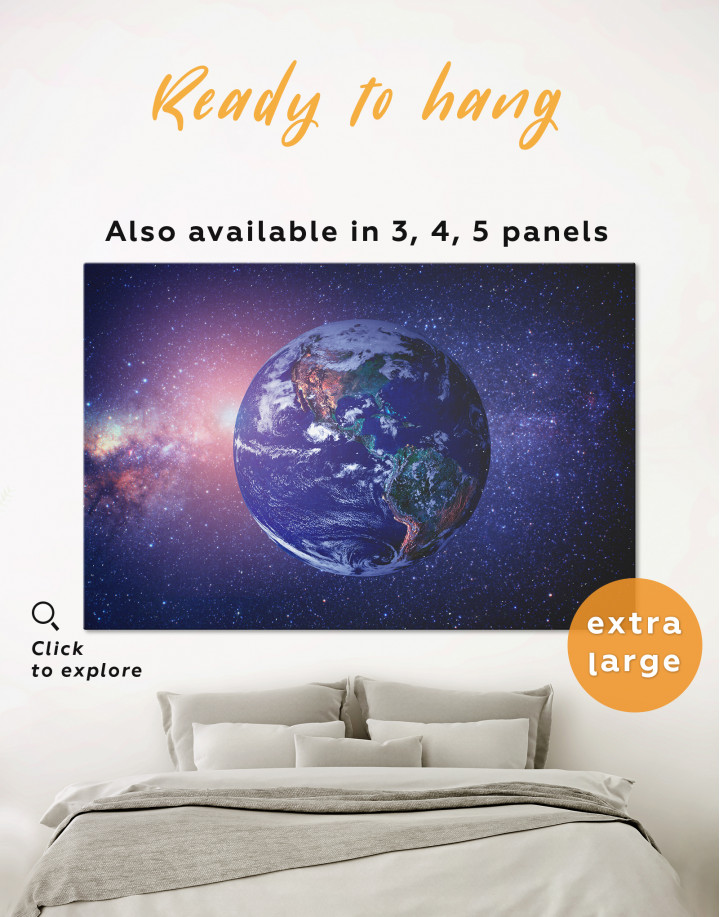 Earth in the Space Canvas Wall Art