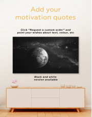Space View with Planet Earth Canvas Wall Art - Image 3