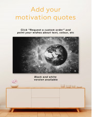 Planet Earth View Canvas Wall Art - Image 3