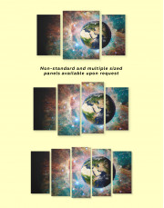 Planet Earth View Canvas Wall Art - Image 2