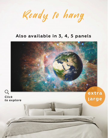 Planet Earth View Canvas Wall Art