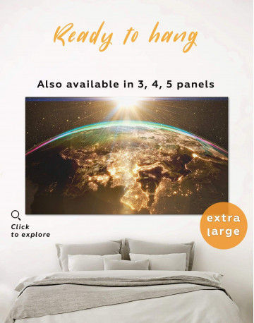 Earth View Canvas Wall Art