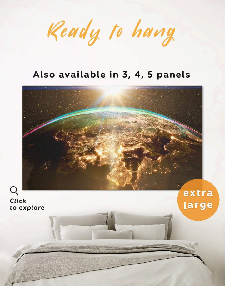 Earth View Canvas Wall Art - Image 0