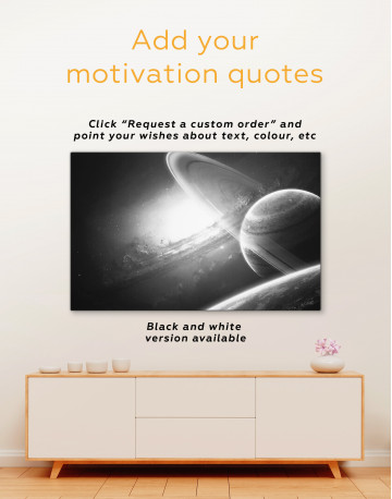 Space View with Mars Canvas Wall Art - image 3