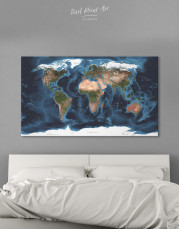 Physical Map of the World Canvas Wall Art - Image 4