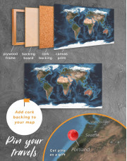 Physical Map of the World Canvas Wall Art - Image 5