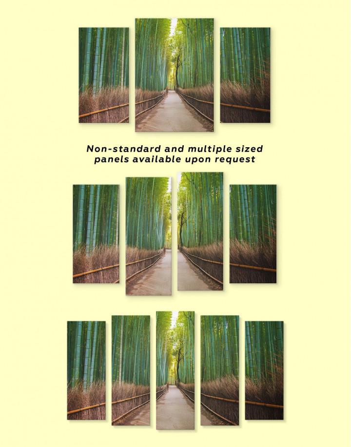 Japanese Bamboo Garden Canvas Wall Art - Image 2