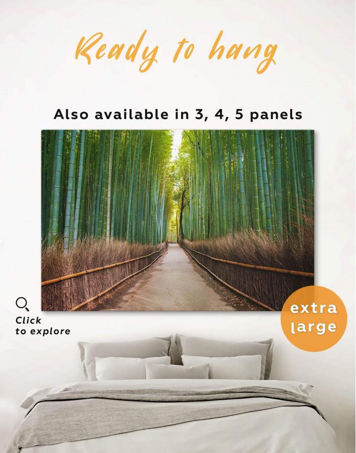 Japanese Bamboo Garden Canvas Wall Art - Image 0
