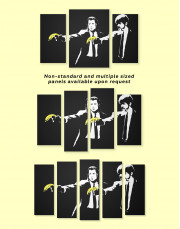 Banksy Pulp Fiction Canvas Wall Art - Image 3