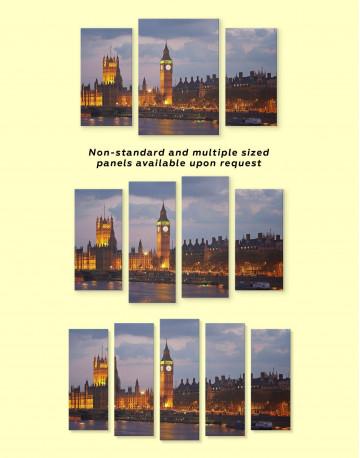London City Skyline Canvas Wall Art - image 3