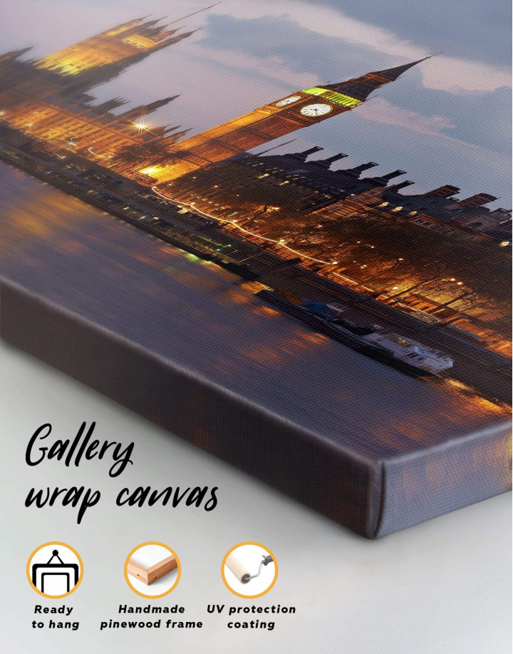 London City Skyline  Canvas Wall Art - Image 1