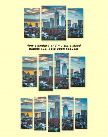 Boston City Skyline Canvas Wall Art - image 2