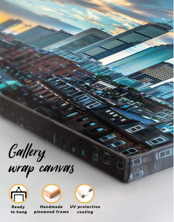 Boston City Skyline Canvas Wall Art - image 4