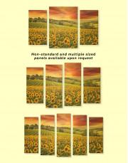 Beautiful Sunflower Field Canvas Wall Art - Image 2
