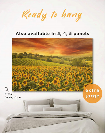 Beautiful Sunflower Field Canvas Wall Art