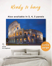 Coliseum Rome Italy Canvas Wall Art