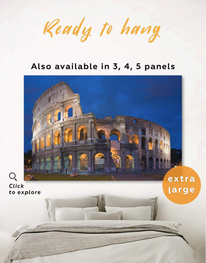 Coliseum Rome Italy Canvas Wall Art - Image 0