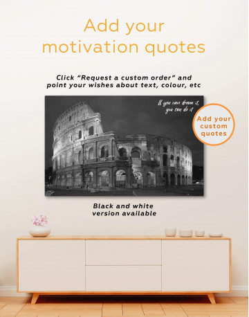 Coliseum Rome Italy Canvas Wall Art - image 1