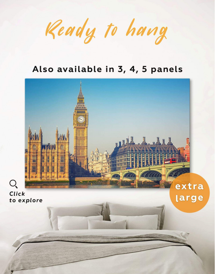 London Great Britain Capital Canvas Wall Art - Image 0