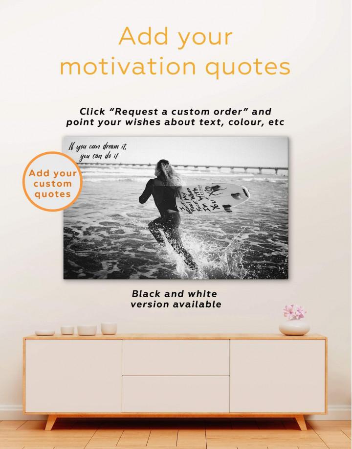 Surfboard Canvas Wall Art - Image 1