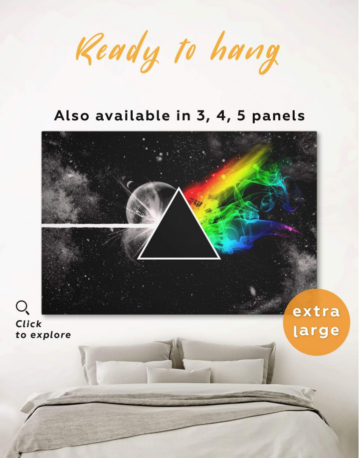 Pink Floyd Dark Side of the Moon Canvas Wall Art - Image 0