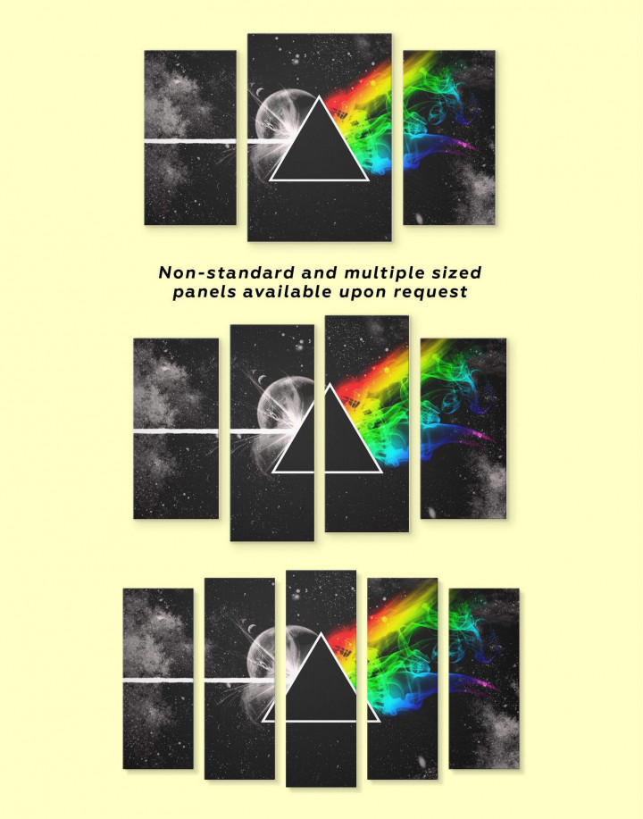 Pink Floyd Dark Side of the Moon Canvas Wall Art - Image 2