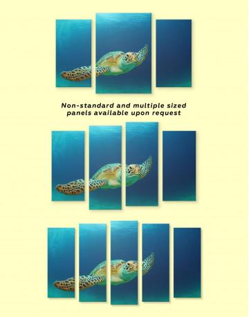 Ocean Tutrtle Canvas Wall Art - image 3