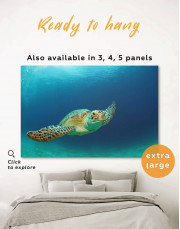 Ocean Tutrtle Canvas Wall Art - Image 0