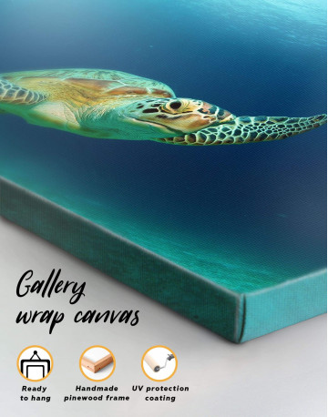 Ocean Tutrtle Canvas Wall Art - image 1