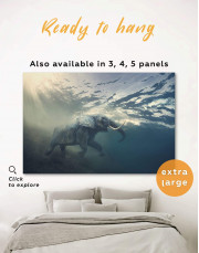 Elephant Under Water Canvas Wall Art - Image 0