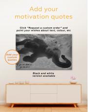Swimming Elephant Underwater Canvas Wall Art - Image 3