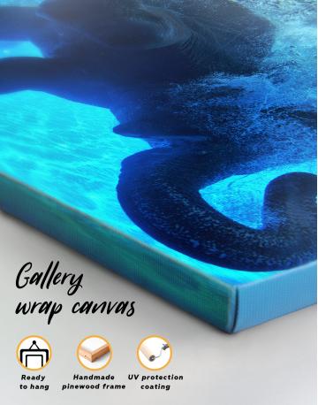 Swimming Elephant Underwater Canvas Wall Art - image 2