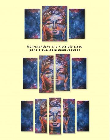 Space Buddha Canvas Wall Art - image 3