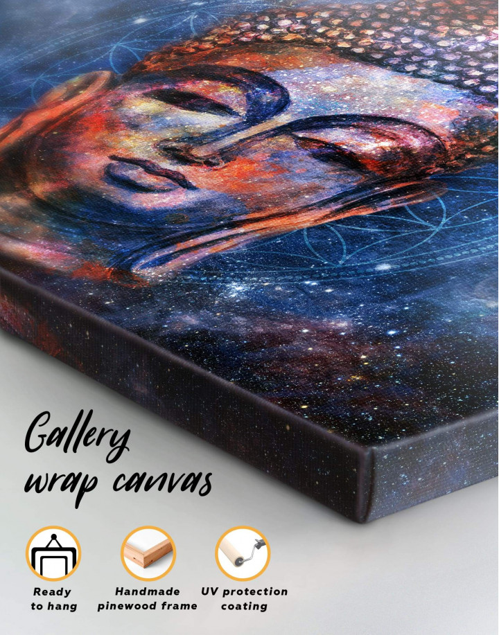 Space Buddha Canvas Wall Art - Image 1