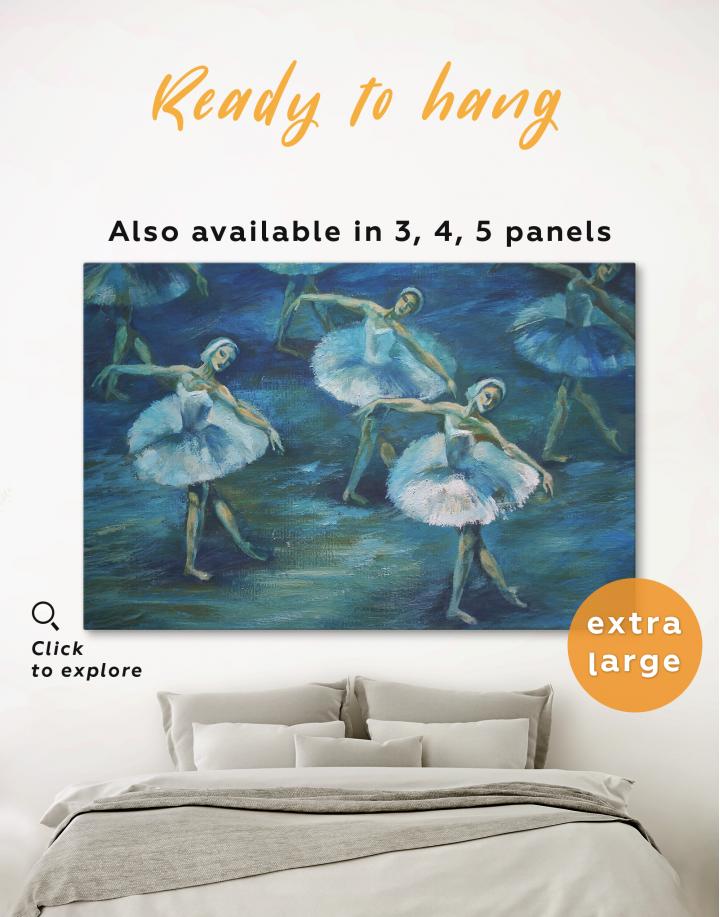 Swan Lake Ballet Painting Canvas Wall Art