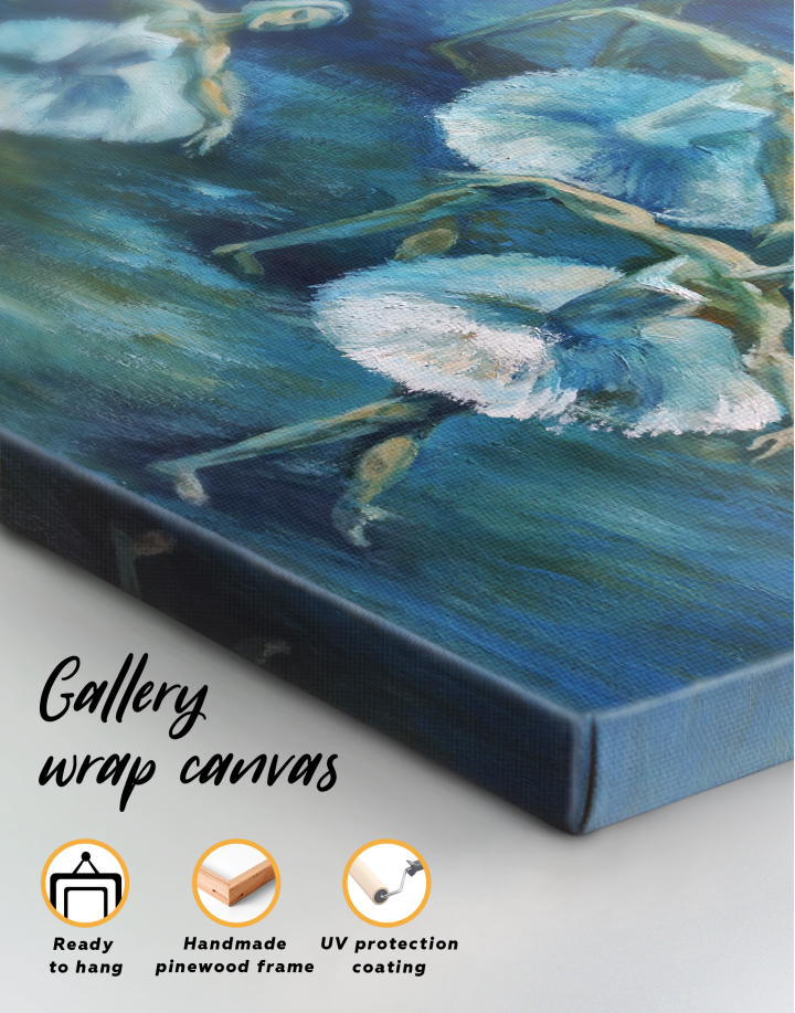 Swan Lake Ballet Painting Canvas Wall Art - Image 3