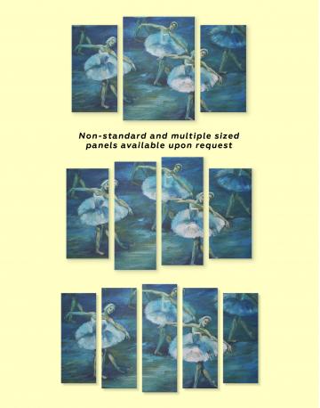 Swan Lake Ballet Painting Canvas Wall Art - image 1