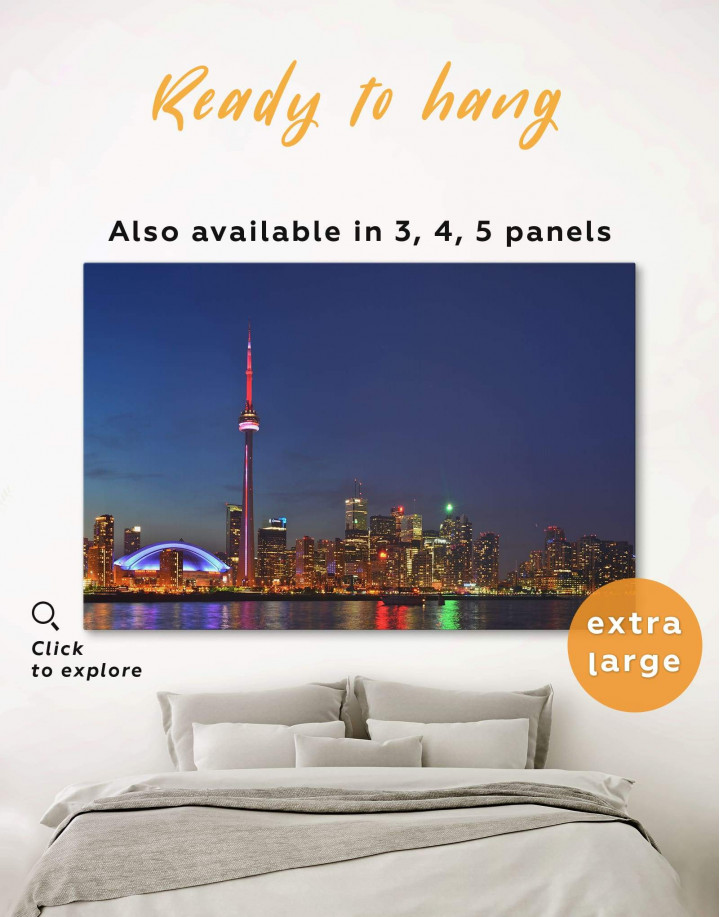 Toronto Skyline Canvas Wall Art