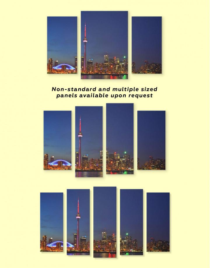 Toronto Skyline Canvas Wall Art - Image 2