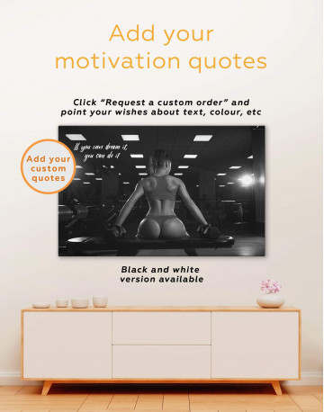 Fitness Girl Canvas Wall Art - image 1
