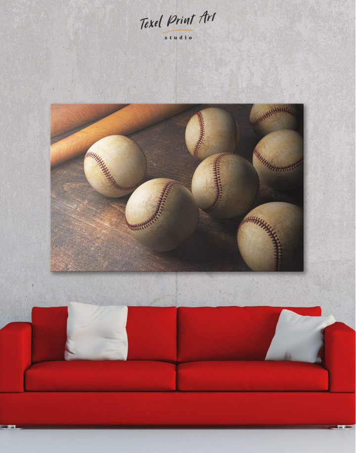 Baseball Theme Canvas Wall Art - Image 6