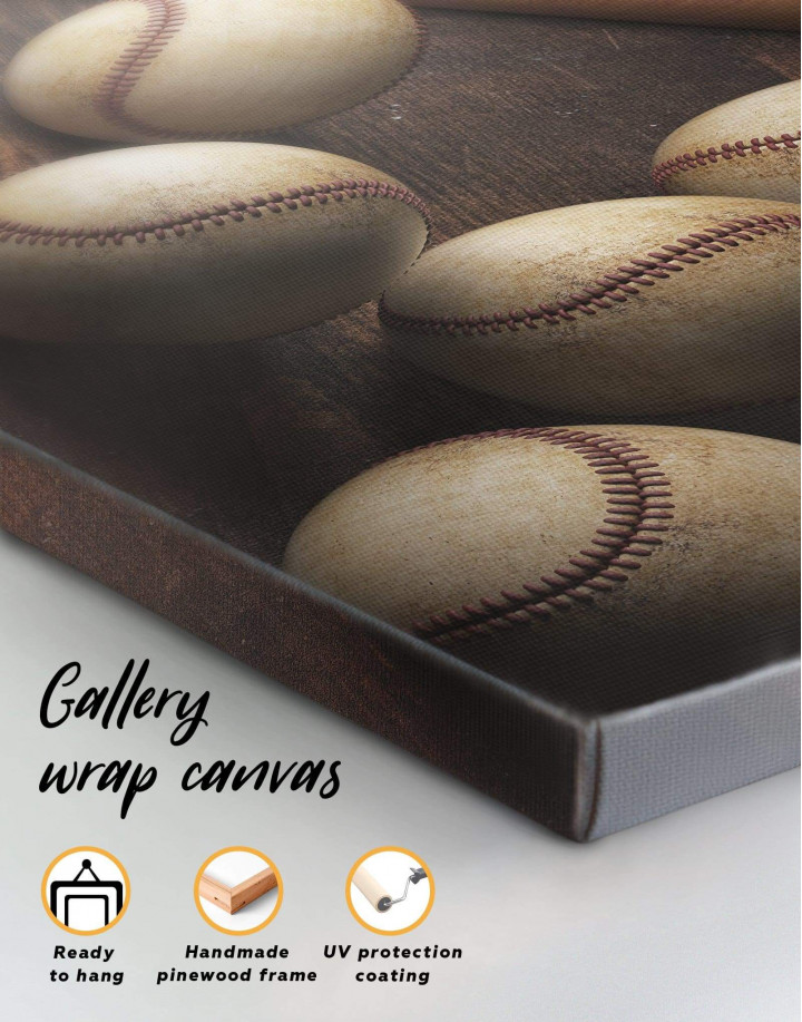Baseball Theme Canvas Wall Art - Image 4