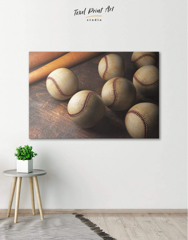 Baseball Theme Canvas Wall Art - Image 0