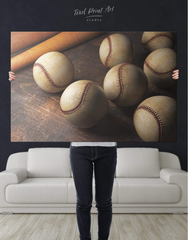Baseball Theme Canvas Wall Art - Image 5